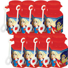 DC SUPER HERO GIRLS MINI BUBBLES (8) ~ Birthday Party Supplies Favors Toys Comic