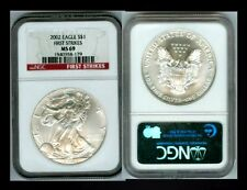 2002 FIRST STRIKE NGC MS 69 SILVER EAGLE  *SPOTLESS* *NO MARKS* WHY PAY MORE?