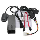 5 IN 1 USB 2.0 To SATA/IDE Hard Drive HD HDD AC Power Converter Adapter Cable EU