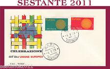 ITALIA FDC ROMA EUROPA CEPT CELEBRAZIONE UNIONE EUROPEA 1970  ANNULLO BARI Q246