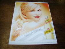 NICOLE KIDMAN - Mini Publicité de magazine SCHWEPPES SAVEUR AGRUM' !!!!!!!!!!!!