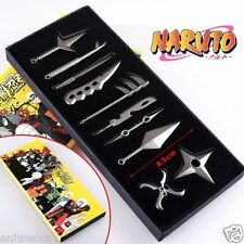 Anime Naruto: Set of 10 pcs Akatsuki Weapons Key Blade Keychain Gift Toy