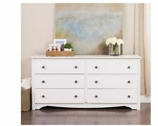 Shabby Chic Dresser Bureaus and Dressers Chests WIth Drawers White Wood