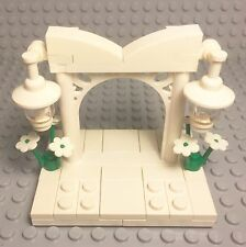 Lego New Bride And Groom Mini Figures Wedding Ornamented Arch Stand,cake Topper