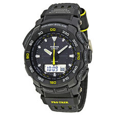 Casio Pro Trek Black Dial Mens Multifunction Watch PRG550G-1