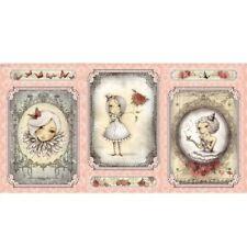 """QT Mirabelle- La Vie En Rose 24258 P Cameo Girl Picture Patch 24"""" Panel"""