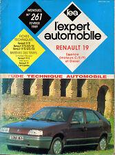 RTA revue technique automobile N° 261 RENAULT 19 R19 TR TS GTS TSE TD GTD TDE
