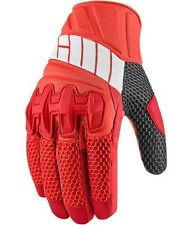 NEW ICON OVERLORD2 GLOVES MESH MOTORCYCLE STREET BIKE RIDING MENS MEDIUM RED