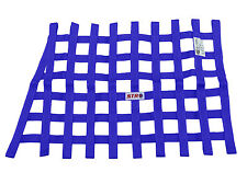 STR Window Net SFI 27.1 Certified, Blue TRAPEZOIDAL Oval Racing, Autograss, Mini
