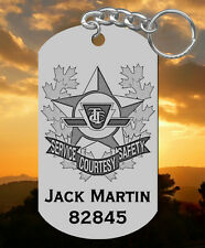 TTC Transit Enforcement Unit Steel Keychain, Personalized! Laser Engraved