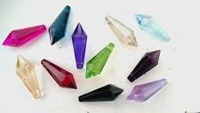 11 Chandelier Crystals Prisms Assorted Colors 38mm Icicle Feng Shui Weddings