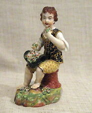 Royal Crown Derby Bloor Figurine Man with Flowers Circa Early 19th Century
