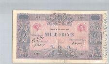 FRANCE 1000 FRANCS BLEU ET ROSE 28 JANVIER 1921 Z.1503 N° 37573435 PICK 67I