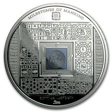 2016 Cook Islands Silver Milestones of Mankind Egyptian Labyrinth - SKU #96525