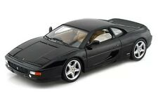 FERRARI F355 BERLINETTA ELITE BLACK 1/18 DIECAST MODEL CAR BY HOTWHEELS X5478