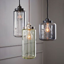 Retro Vintage Industrial Crystal Ceiling Lamp Pendant Lighting Fixture 3 Bulbs