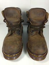 Dr Martens Made in England Safety Hiking Work Brown Boots Size 6 US.