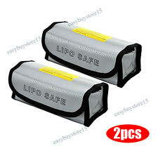2X RC Lipo Battery Bag Guard Fireproof Explosion proof Sack Charging Safe