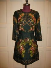 Auth DOLCE & GABBANA Baroque Key Victorian Rose Print Brocade Mini Dress 42 NWT