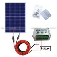 100W Complete Kit:100W 18V PV Solar Panel &15A solar controller 12V Home Power