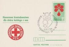 Poland postmark KATOWICE - medicine Red Cross blood donation