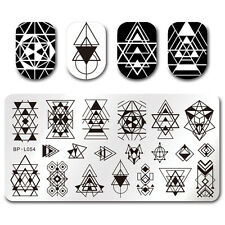 BORN PRETTY Nail Art Stamp Plate Manicure Image Template Geometry Style BP-L054
