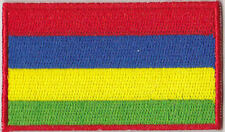 Mauritius Country Flag Embroidered Patch T4