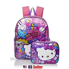 "Sanrio Hello Kitty ""Stars and Clouds"" Backpack with Insulated Lunch Bag"