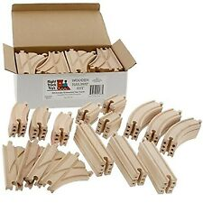 NEW 52 Wooden Train Track Pack Set. Wood Thomas Brio Chuggington Straight Curved
