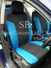 i - TO FIT A NISSAN X-TRAIL CAR, SEAT COVERS, BLACK/BLUE DIAMOND, FULL SET