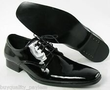 New CALVIN KLEIN Gareth Black Patent Oxford Dress SHOE Mens 13 EXPEDITED MAIL
