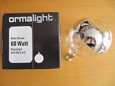 ORMALIGHT Lampe globe G125 E27 anneau réfléchissant ARGENT 60W ø125mm Ampoule