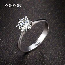 New Fashion Wedding Jewelry White Gold Crystal CZ Engagement Band Ring Size 0.5N