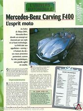 Roadster Mercedes-Benz Carving F400 V6 Germany Concept Car Auto FICHE FRANCE