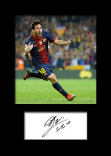 LIONEL MESSI (Barcelona) #1 Signed Print A5 Mounted Photo Print - FREE DELIVERY