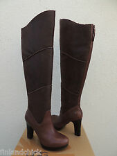 UGG STOUT BROWN DREAUX OVER THE KNEE LEATHER/ SHEARLING BOOTS, US 8/ EUR 39 ~NEW