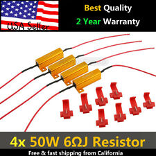 4PCS 50W 6RJ LED Load Resistor Decoder Fix Error Code Hyper Flash Turn Signal