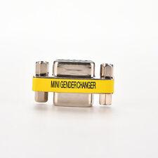 15 pin D-Sub VGA SVGA MINI Gender Changer Adapter Connector M/M F/F M/F HD15 WB