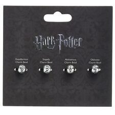 NUOVO Ufficiale Harry Potter argento placcato fascino INCANTESIMO Perline Set (Pacco da 4 perline)