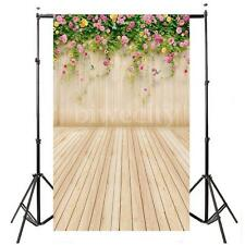 3x5FT Flower Wood Wall Photography Backdrop Photo Prop Background for Studio