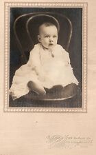 Vintage photo St. Catherines Ont. Canada cute baby in white dress No ID