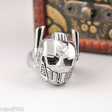 Transformers Silver AUTOBOTS Leader Optimus Prime Metal Ring