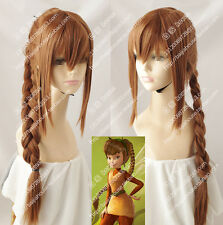 cosplay wig Fawn animal fairy Tinker Bell Brown Ponytail modelling anime wig