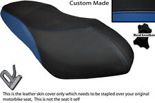 BLACK & ROYAL BLUE CUSTOM FITS PGO G MAX 125 DUAL LEATHER SEAT COVER ONLY