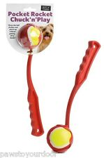 Dog ball thrower toy tennis ball launcher pocket rocket 1 x ball Included throw