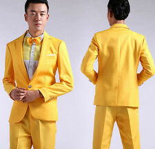 Hot Mens Bling Sequins Tuxedo SUIT & PANTS Gangnam Style Psy Jacket Costume Coat