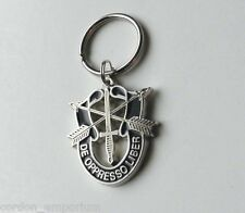 SPECIAL FORCES DE OPPRESSO LIBER KEYRING KEY RING CHAIN 1.75 INCHES