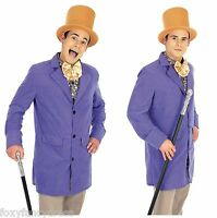 Adult MENS Chocolate Factory OWNER Costume Willy Wonka Adults Fancy Dress Outfit