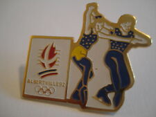 PINS RARE FIGURE SKATING ALBERVILLE 92 OLYMPICS SKI PATINAGE ARTISTIQUE