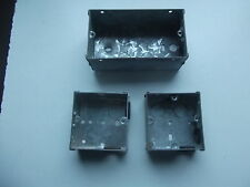 1x double + 2x single FLUSH MOUNT METAL PATTRESS ELECTRIC BACK BOX